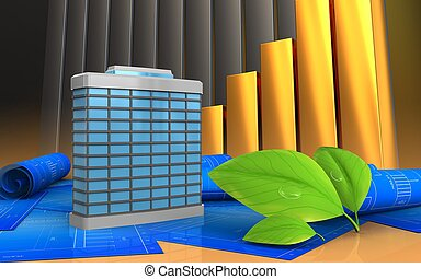 3d of leafs