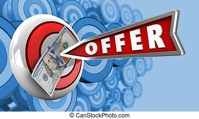 3d offer arrow