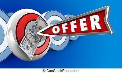 3d offer arrow
