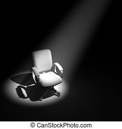 3d Office chair in spotlight - 3d render of an office chair...
