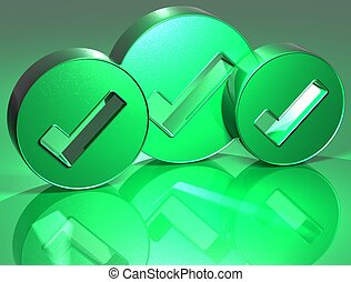 3D OK Green Sign