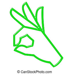 3D OK Hand Sign