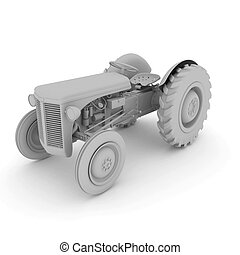 3d Old tractor