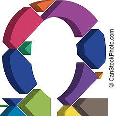 3d OMEGA symbol - Colorful three-dimensional OMEGA Symbol