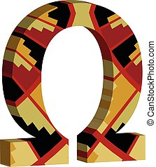 3d OMEGA symbol - Colorful three-dimensional OMEGA Symbol