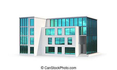 3d, ?ondominium, 建物, イラスト, 建物。