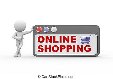 3d online e-shopping