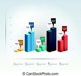 3d, ontwerp, graph., infographics, chart.
