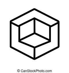 3d, ontwerper, stijl, figuur, lijn, pictogram