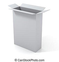 3d open empty blank box