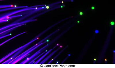 3D Optical Fiber - Abstract optical fiber on the black ...