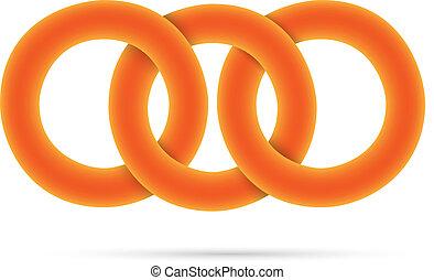 3D orange circles