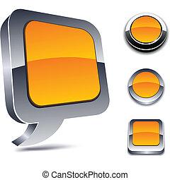 3d orange icons.