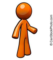 3d Orange Man, Standing