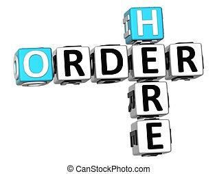 3D Order Here Crossword