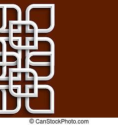 3d, ornamento, em, estilo árabe