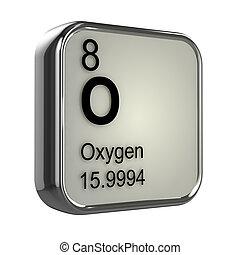 3d, oxígeno, elemento