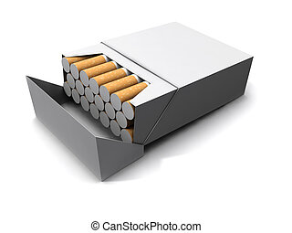 3d Packet of cigarettes