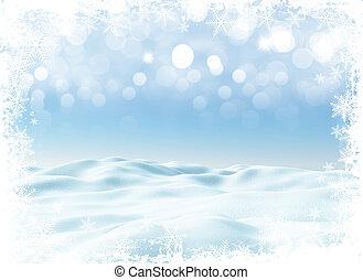 3d, paisagem inverno, natal