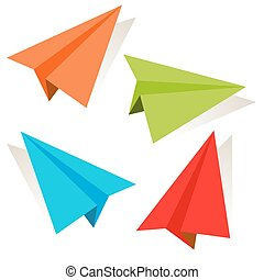 3d Paper Airplane Icon Set