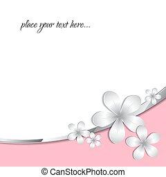 3d paper flower pattern background