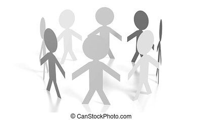 3D papercut characters - great for topics like teamwork etc.