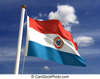 Paraguay flag (with clipping path)