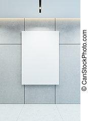 3d, parete, cornice, vuoto, immagine, interpretazione