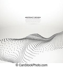 3d particle wave mesh dynamic wave background