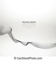 3d particles wave style abstract background