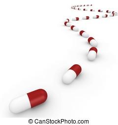 3d path of pills