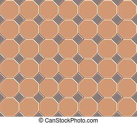 3d pavement brick pattern stone-octagon