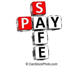 3D Pay Safe Crossword