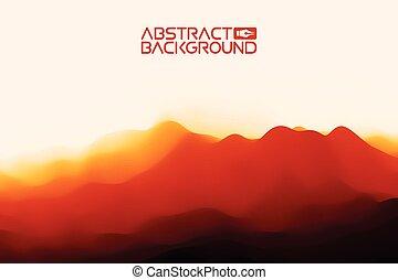 3d, paysage, arrière-plan., rouge noir, gradient, résumé, vecteur, illustration.computer, art, conception, template., paysage, à, sommets montagne