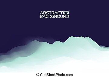 3d, paysage, résumé, bleu, arrière-plan., bleu, gradient, vecteur, illustration.computer, art, conception, template., paysage, à, sommets montagne