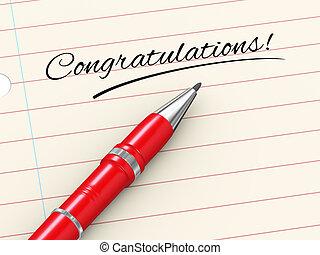3d pen on paper - congratulations
