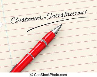 3d pen on paper - customer satisfaction