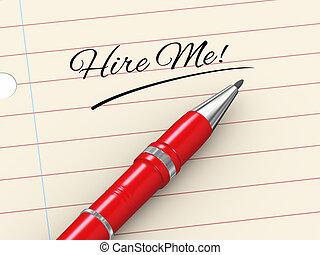 3d pen on paper - hire me - 3d render of pen on paper...