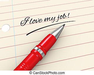 3d pen on paper - i love my job