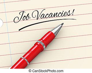 3d pen on paper - job vacancies