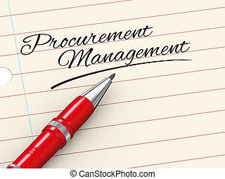 3d pen on paper - procurement management