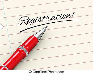 3d pen on paper - registration