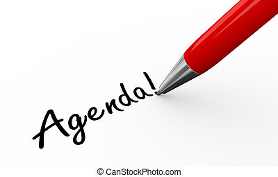 3d pen writing agenda - 3d render of pen writing agenda on...