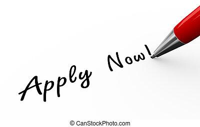 3d pen writing apply now illustration