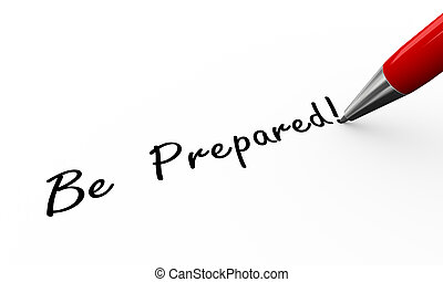 3d pen writing be prepared illustration