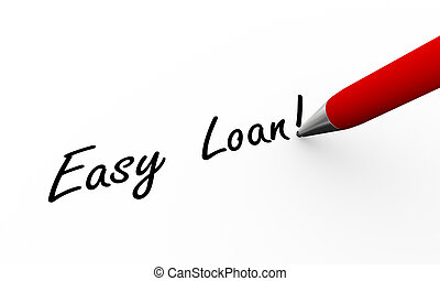 3d pen writing easy loan illustration