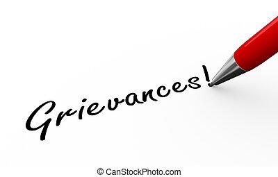 3d pen writing grievances illustration