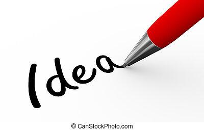3d pen writing idea