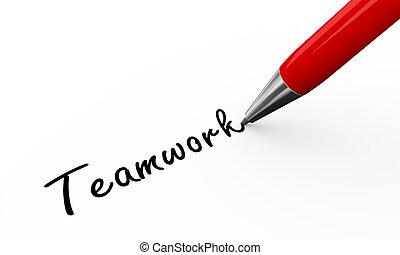 3d pen writing teamwork