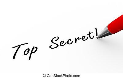 3d pen writing top secret illustration